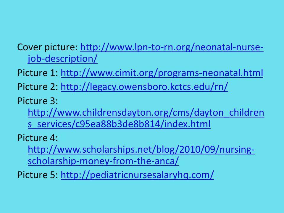 Neonatal Nurse Mandi Nosker. Nature of work Care for newborn ...