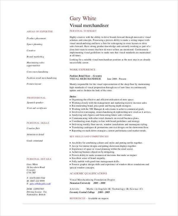 retail merchandiser resume sample merchandiser resume example