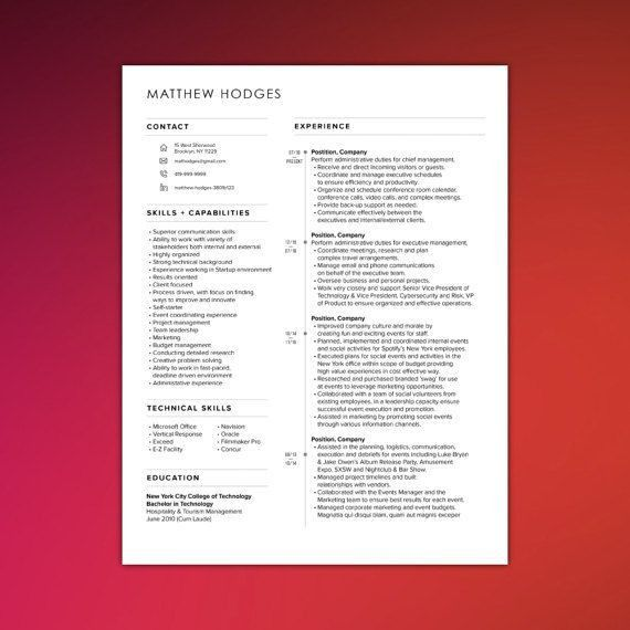 103 best Resume Templates images on Pinterest | Resume tips ...