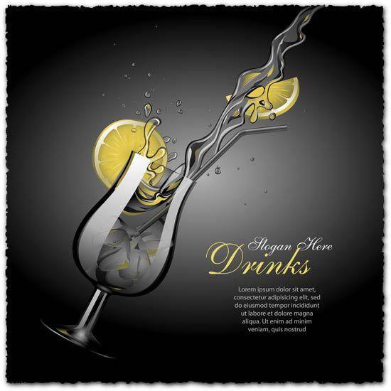drinks vector eps vectors for download