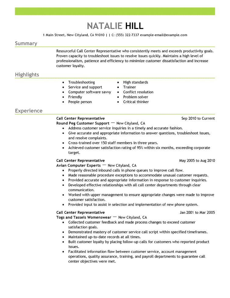 Resume Outline Example 4 - uxhandy.com