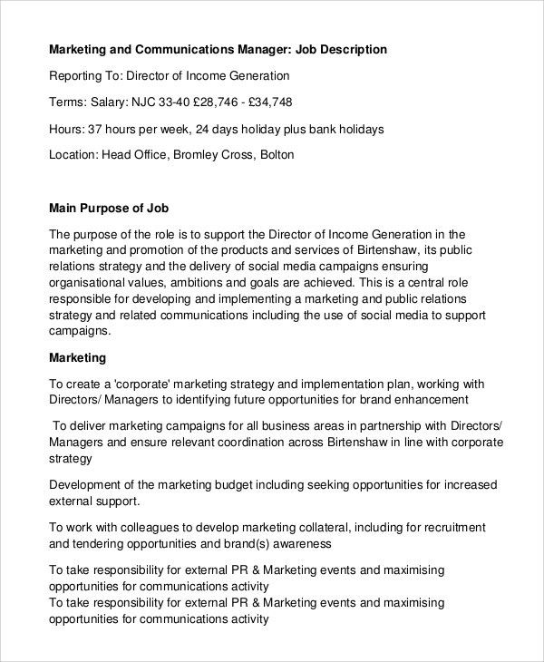 Social Media Manager Job Description. Evolution Community Manager ...