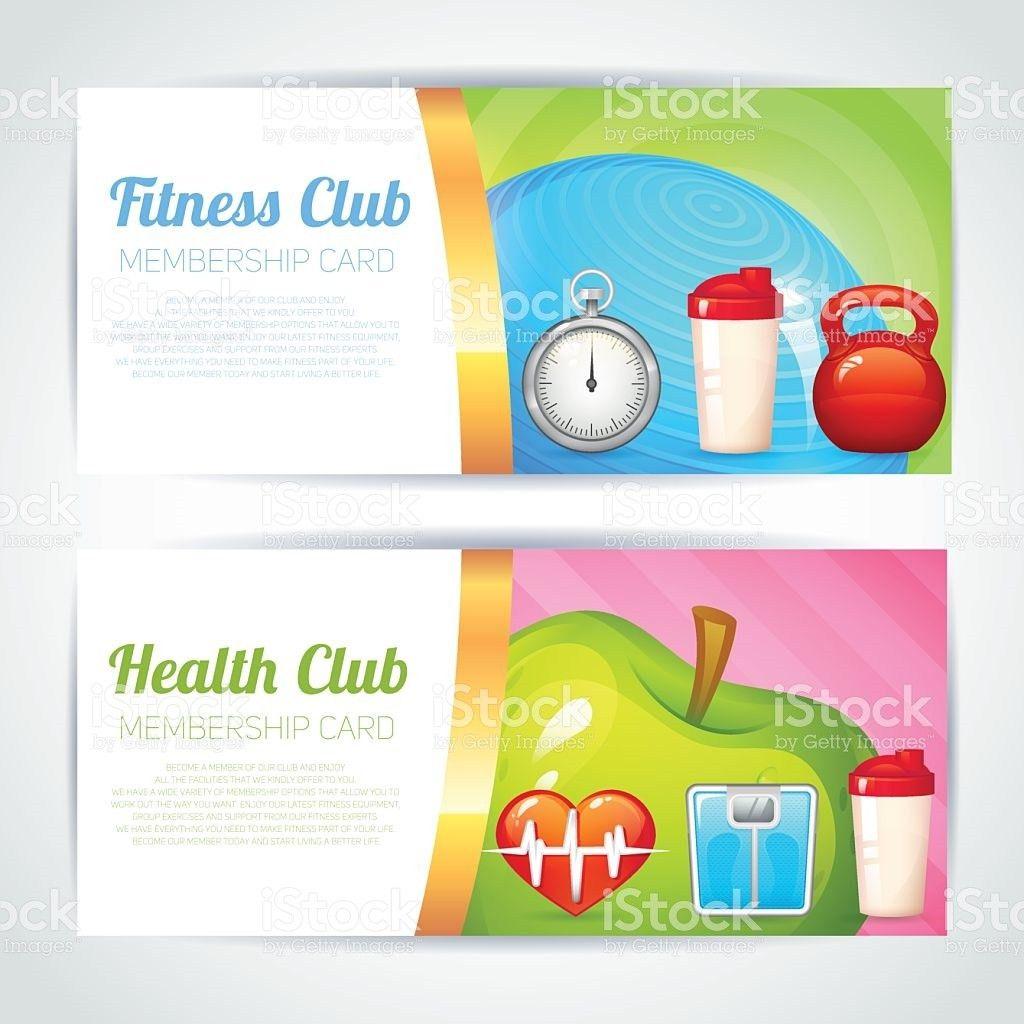 Fitness Club Card Design stock vector art 533886441 | iStock