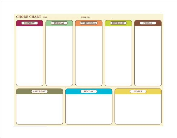 Family Chore Chart Template – 13+ Free Sample, Example, Format ...