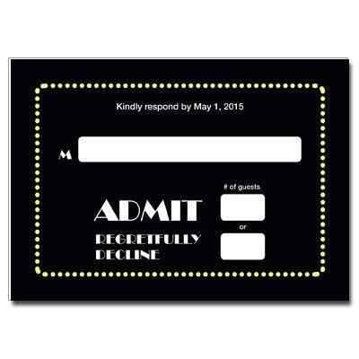 Broadway Ticket Bar Mitzvah Thank You Card   Broadway Ticket Bar ...