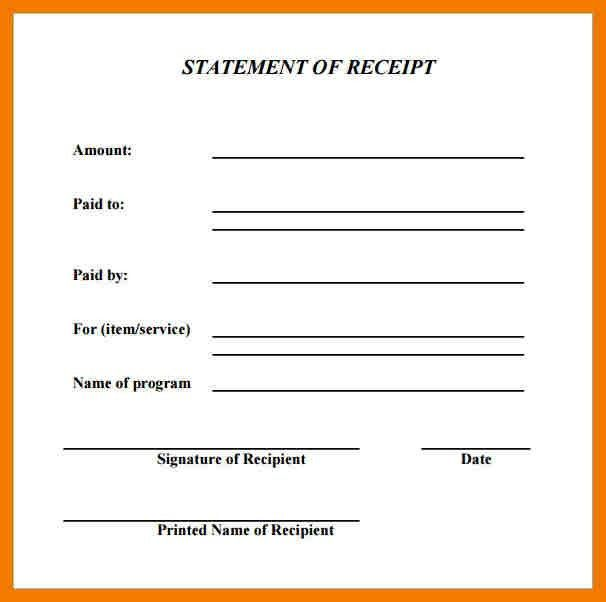 4+ basic receipt template | mailroom clerk