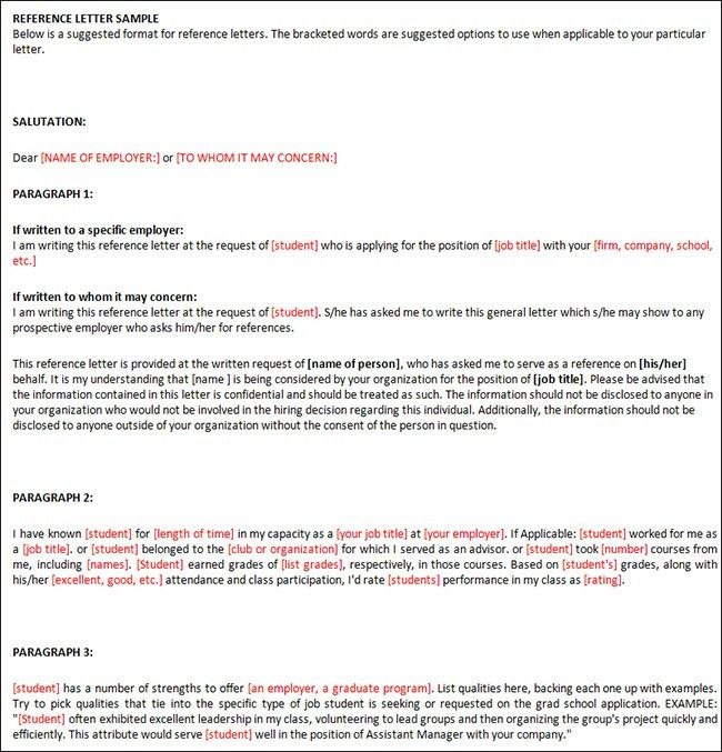 Sample Reference Letter Templates | Creative Template | Creative ...