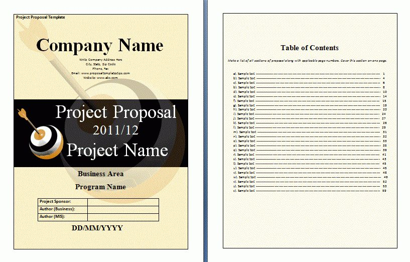 Project Finance Proposal Template | Free Proposal Templates