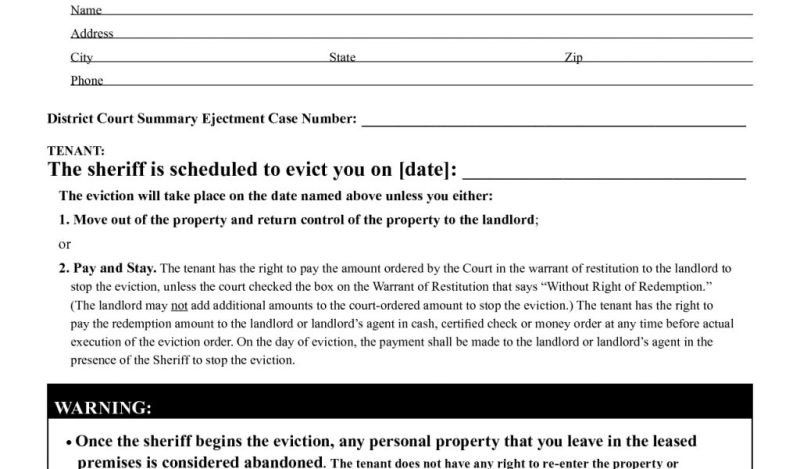 Notice Form In Word. Printable Eviction Notice Form Template ...