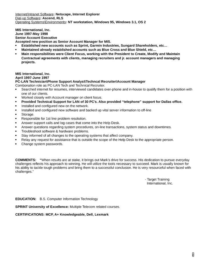 application support analyst cv sample. free treasury analyst ...