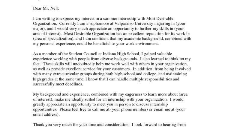 Sample Internship Cover Letter Examples internship cover letter ...