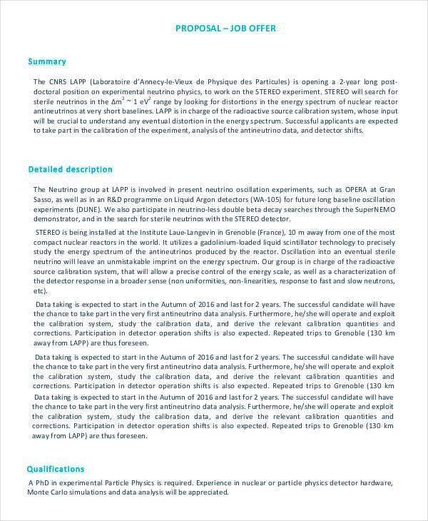 Job Proposal Template - 18+ Free Word, PDF Document Downloads ...