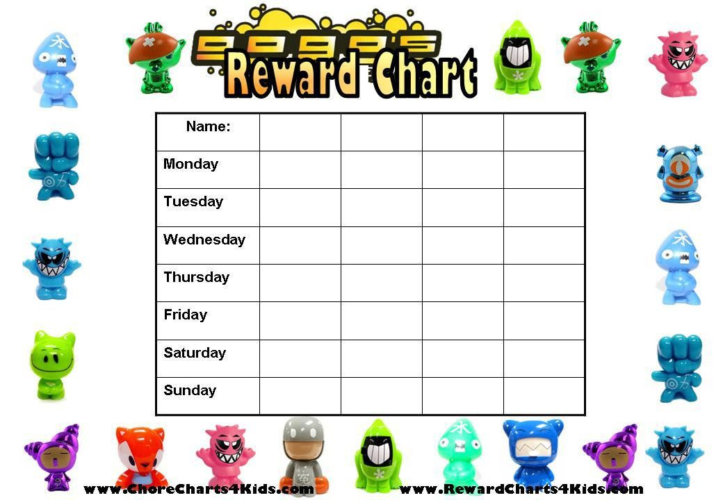 Reward Charts for Multiple Kids