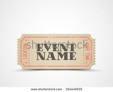 Vector Ticket Template Your Event Brown Stock Vector 104440535 ...