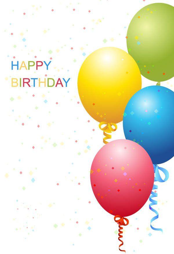 Vector Birthday Template Free | Free Vectors | Pinterest | Happy ...