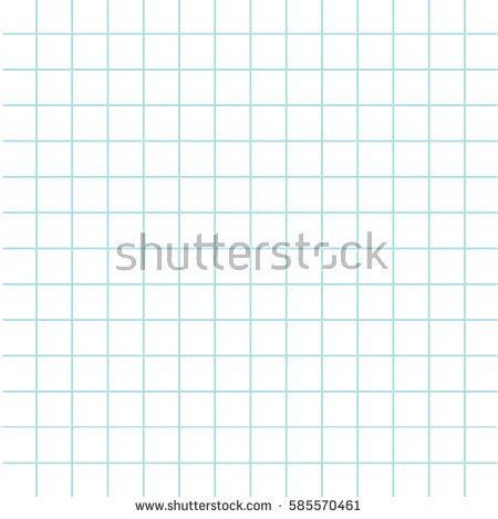 Notebook Paper Texture Cell Template Squared Stock Vector ...