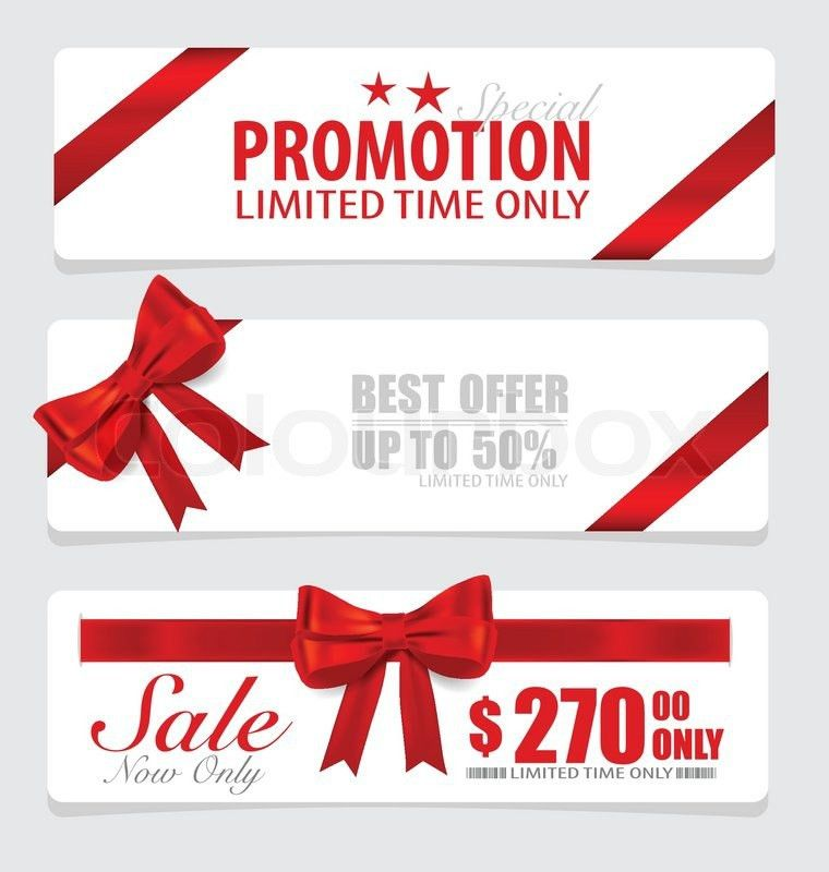 End of year sale savings labels set, price tag, sale coupon ...