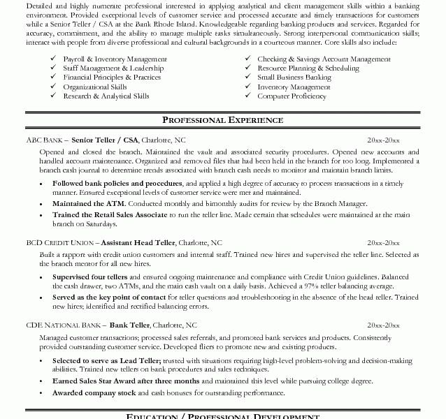 Cheerful Bank Resume 3 Sample Bank Teller Resume - Resume Example