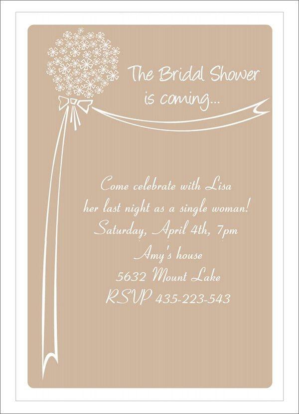22+ Free Bridal Shower Printable Invitations