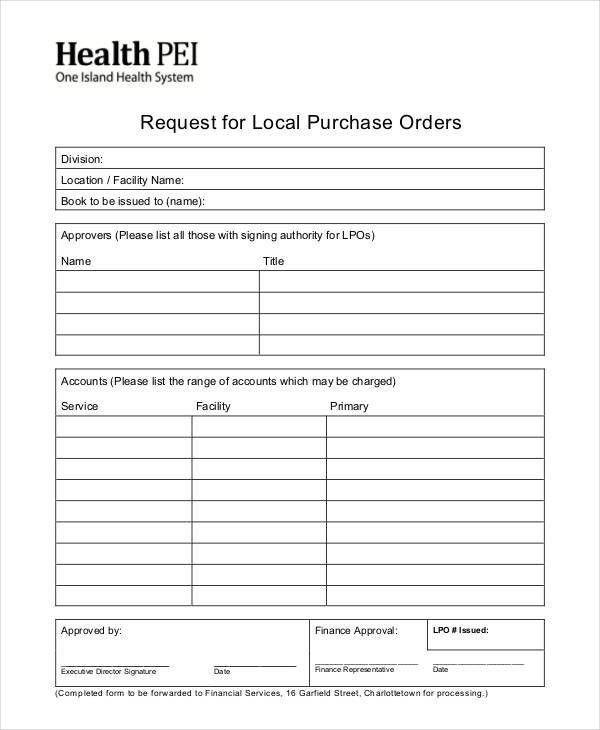 14+ Purchase Order Formats | Free & Premium Templates