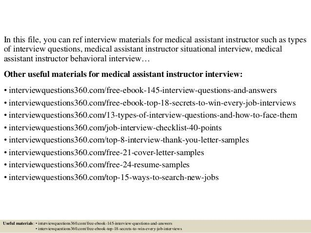 Top 10 medical assistant instructor interview questions and answers
