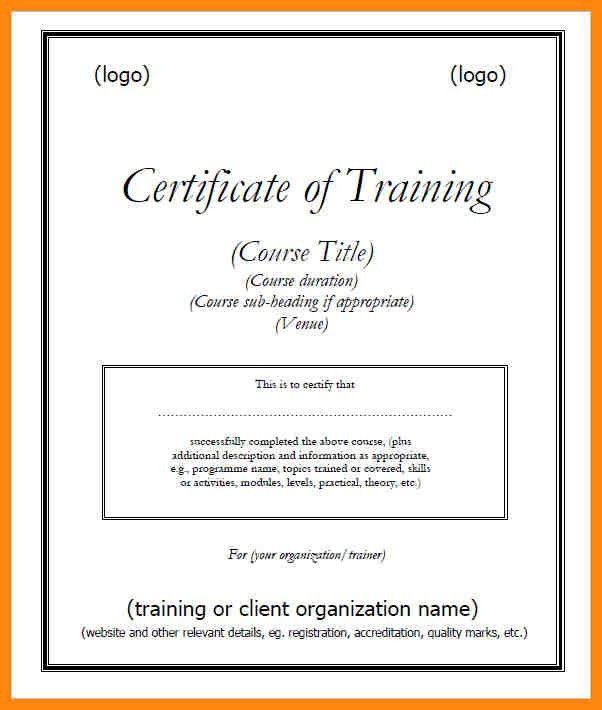 9+ training certificate templates | nurse resumed