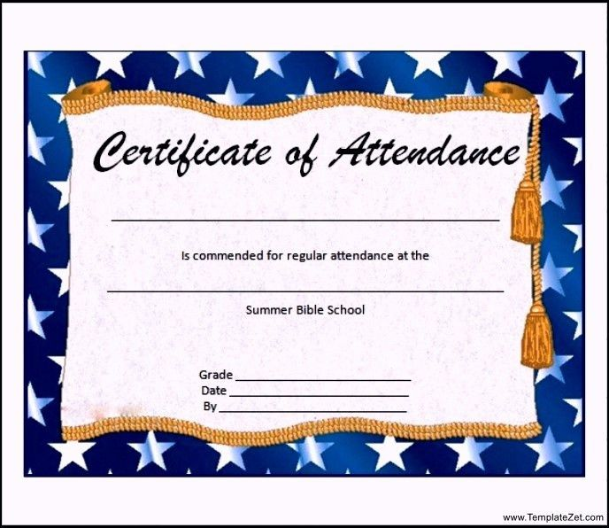 Free Perfect Attendance Certificate Template | Howto.billybullock.us