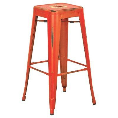 "Osp Designs Bristow 30"" Barstool Antique Metal (Set of 2) - Office ..."