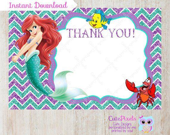 Free Printable Little Mermaid Birthday Invitations | alesi.info