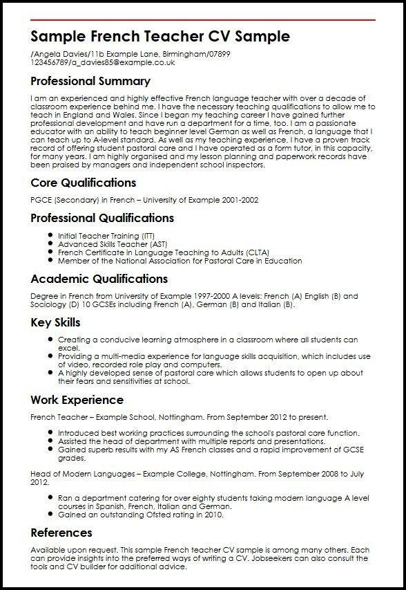 Example Of Teaching Resume. Sample Of Teaching Resume Teaching ...