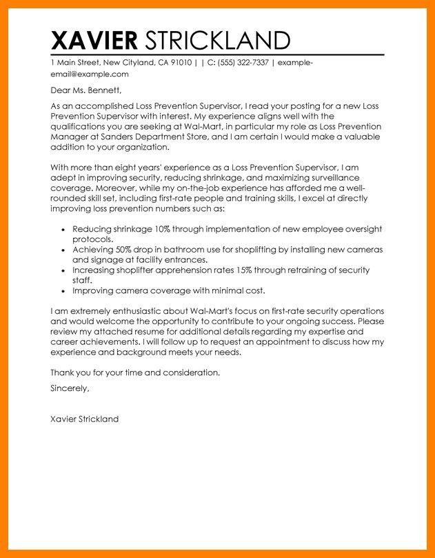 7+ loss prevention resume | addressing letter