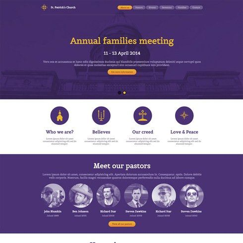 St. Patrick's Church Free Responsive Website Template