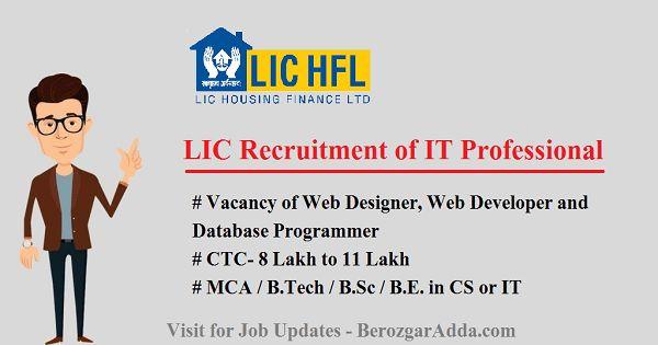 LIC Recruitment of IT Professional - Web Designer, Web Developer ...