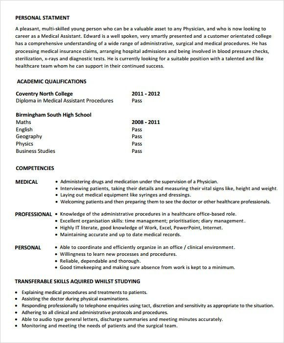Medical Assistant Resume – 7 Free Samples , Examples , Format