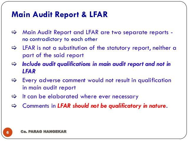 Long Form Audit Report for Bank Branches