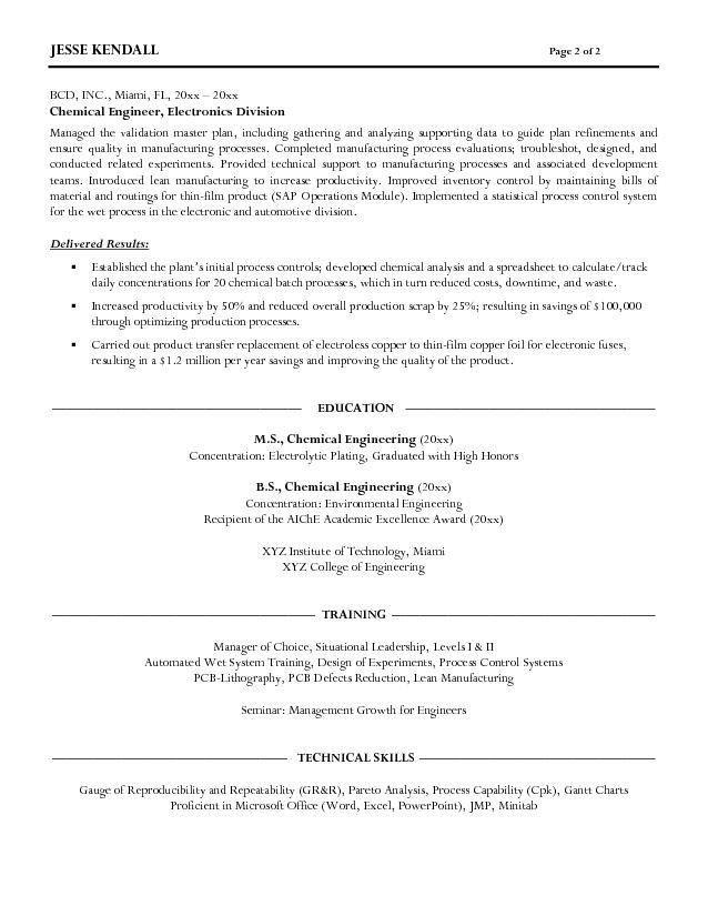Download Chemical Engineer Resume | haadyaooverbayresort.com