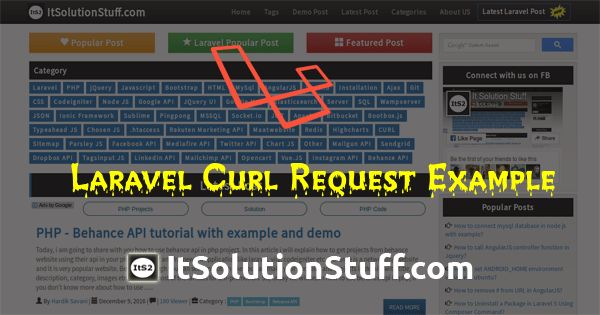 Laravel 5 curl request example using ixudra/curl package