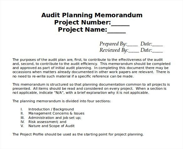 10+ Audit Memo Templates – Free Sample, Example, Format Download ...