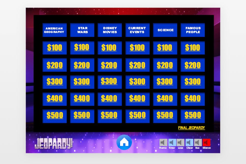 Hosting a Jeopardy! game show party for kids — Em-i-lis