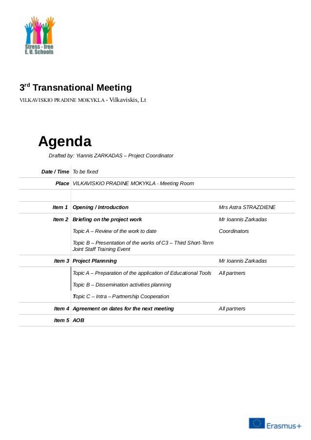 Vilkaviskis meeting - agenda [draft]