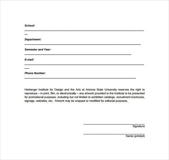 Sample Artwork Release Form - 19+ Download Free Documents in PDF, Word