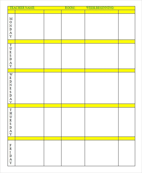 Sample Weekly Lesson Plan - 8+ Documents In Word, Excel, PDF