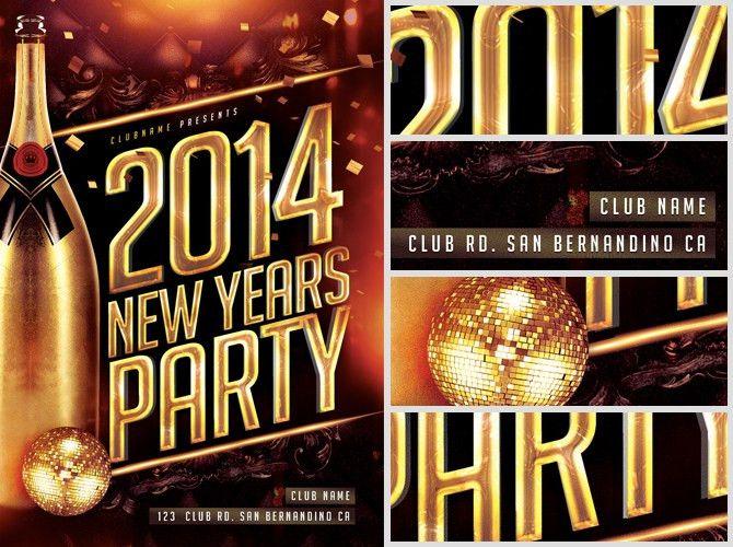 New Year's Eve Flyer Template - FlyerHeroes