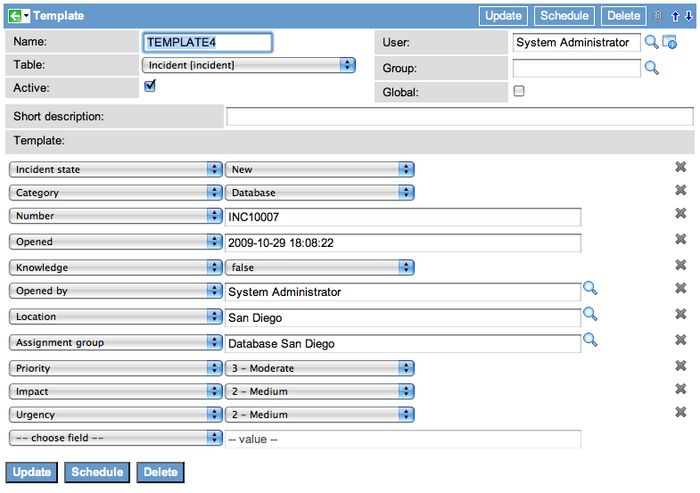 Creating a Template - ServiceNow Wiki