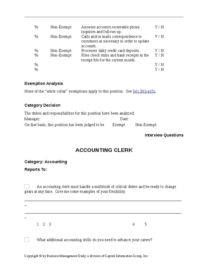 Accounting Clerk Job Description For Resume   SampleBusinessResume .