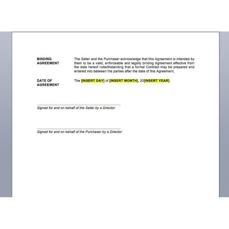 Heads of Agreement | Law4Us Agreement Template