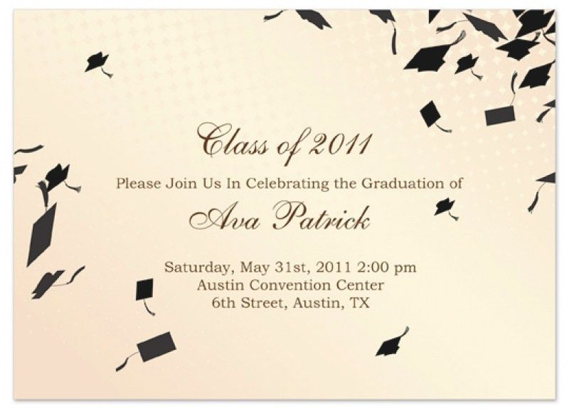 Graduation Invitation Template. Full Size Of Designs Sample ...