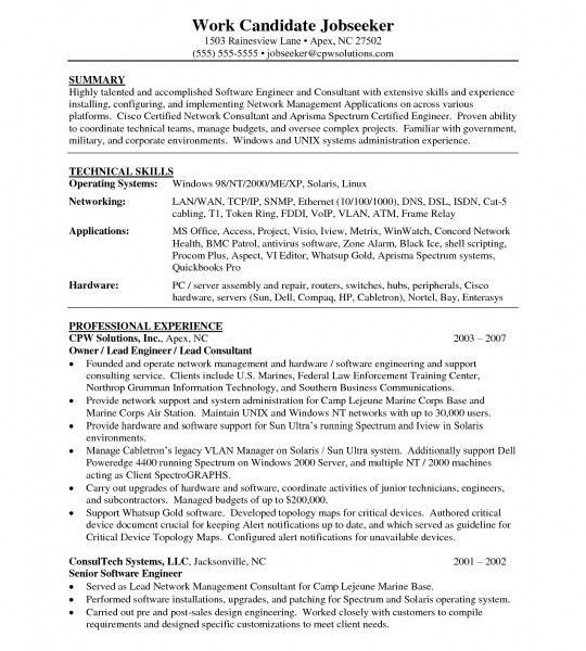 Certified Systems Engineer Sample Resume | haadyaooverbayresort.com
