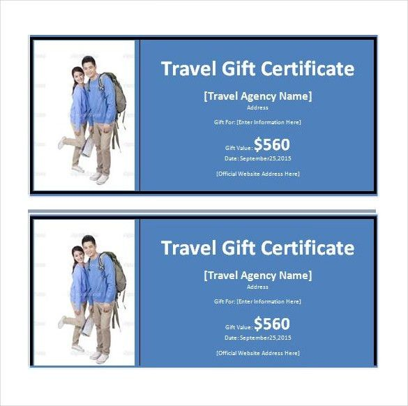 Travel Gift Certificate Templates – 7+ Free Word, PDF, PSD ...