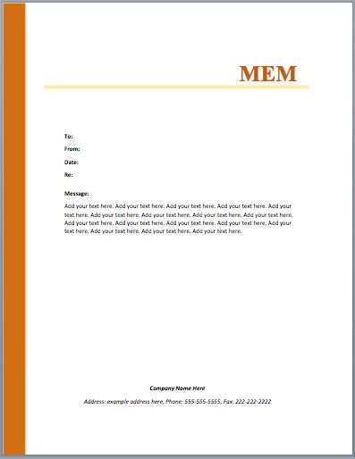 sample memo – Microsoft Word Templates